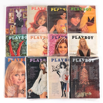 """""""Playboy"""" Magazines Featuring """"Playmate of the Year"""" and More, 1968"""