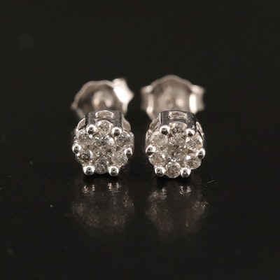 10K Diamond Stud Earrings