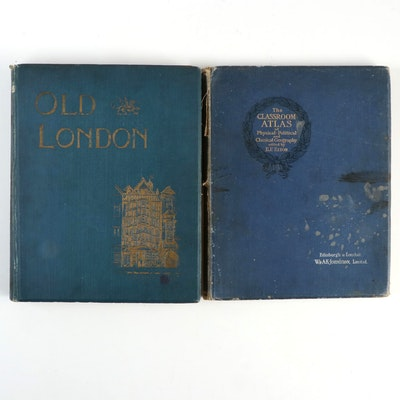 """Old London"" and ""The Classroom Atlas,"" Early 20th Century"