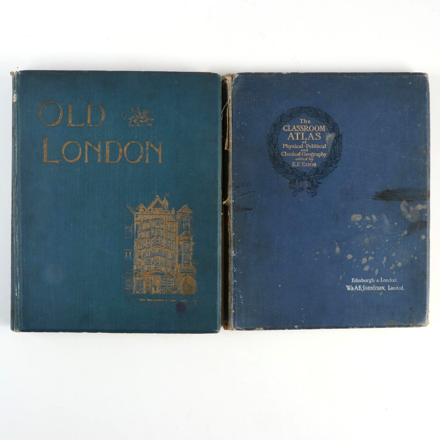 """""""Old London"""" and """"The Classroom Atlas,"""" Early 20th Century"""