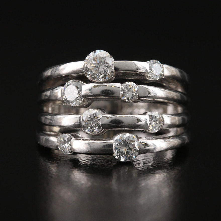 Contemporary 14K 1.19 CTW Diamond Ring