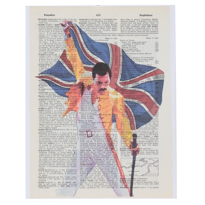 "Grant Rosen and Micha Ruechenhoff Pop Art Giclée ""Freddie Flag"""