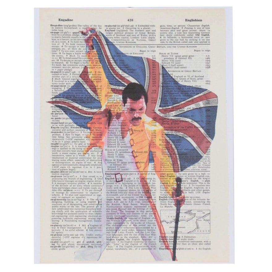 "Grant Rosen and Micha Ruechenhoff Pop Art Giclée ""Freddie Flag"""