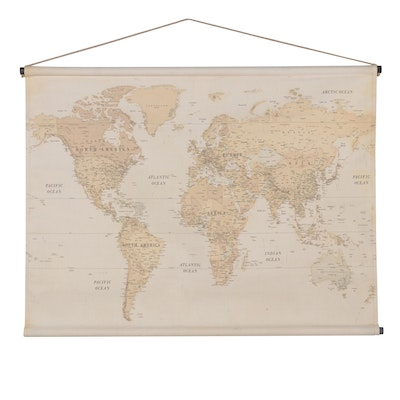 Designs Direct Scroll World Map