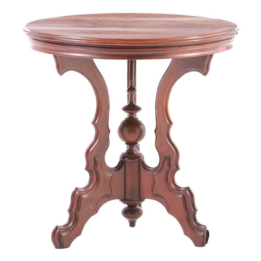 Victorian Walnut Side Table, Late 19th Century