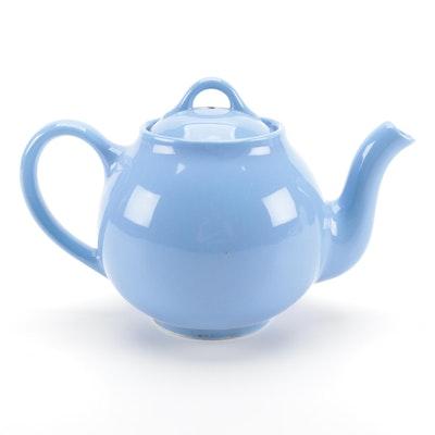 Lipton's Tea Blue Ceramic Teapot, Mid-20th Century
