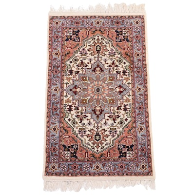 3' x 5'6 Hand-Knotted Indo-Persian Heriz Wool Area Rug