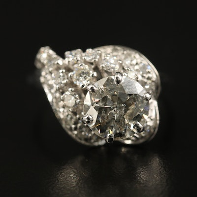 14K 3.00 CTW Diamond Tiered Cluster Ring