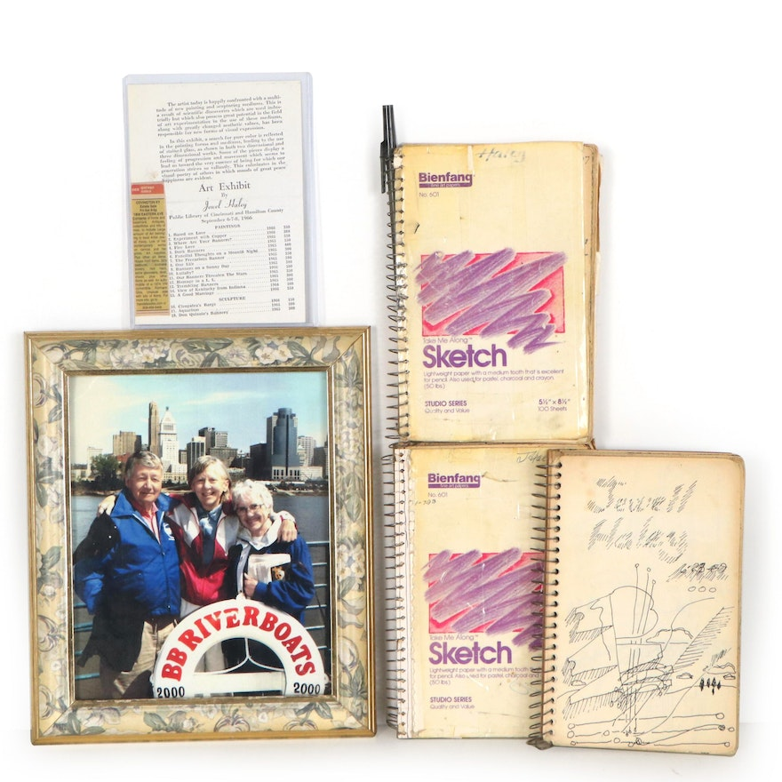 Jewell Haley Sketchbooks and Mementos, Mid-20th Century