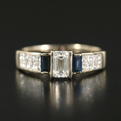 14K 1.61 CTW Diamond and Sapphire Ring