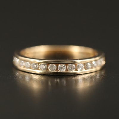 10K Diamond Channel Ring