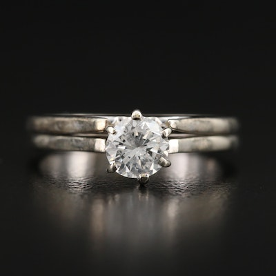 14K 0.59 CT Diamond Solitaire Ring Set