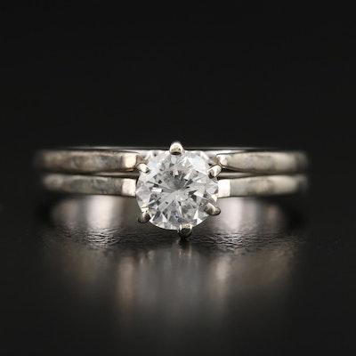 14K 0.59 CT Diamond Solitaire Ring Set