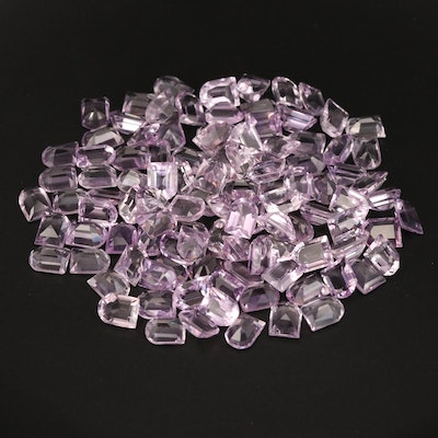 Loose 147.56 CTW Window Faceted Amethyst
