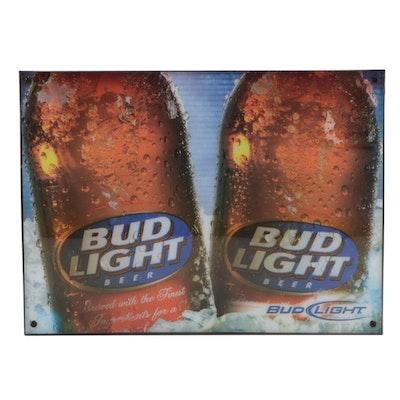 Bud Light Illuminated Beer Sign