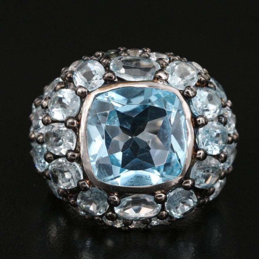 Sterling Silver Topaz Bombe Ring