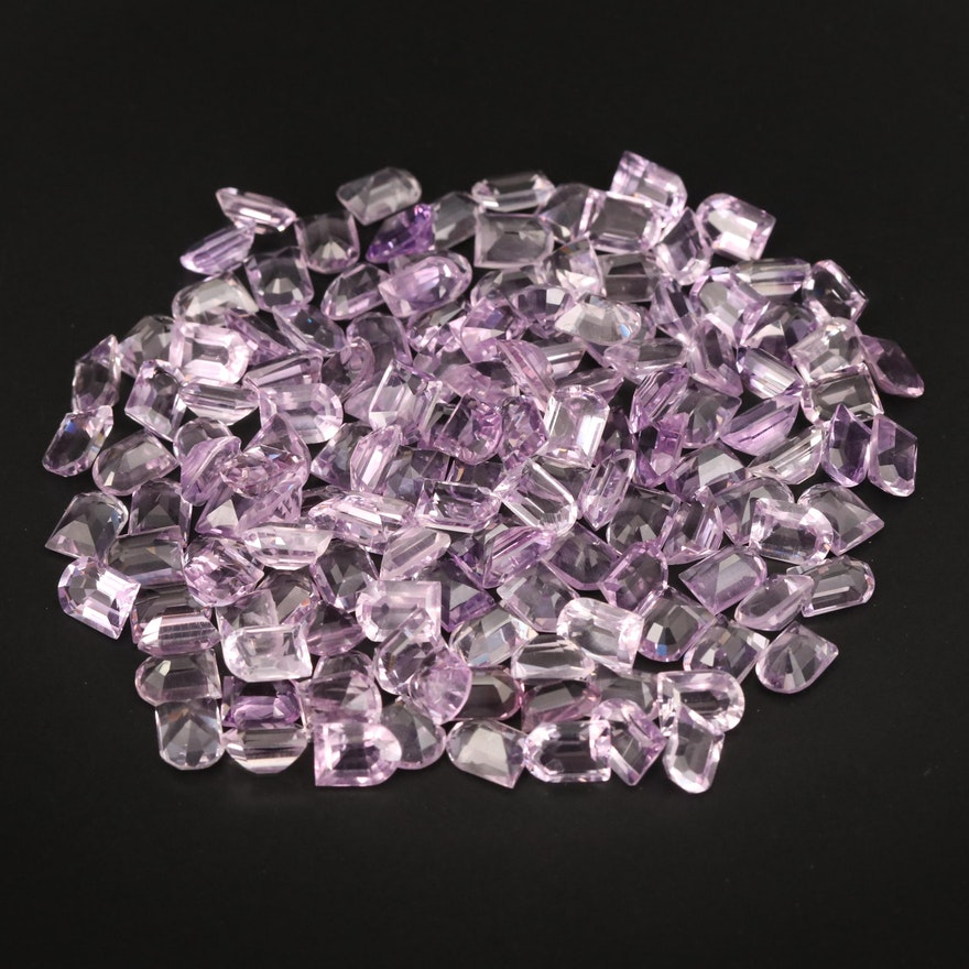 Loose 197.69 Amethyst Selection Featuring Window Faceted Shapes