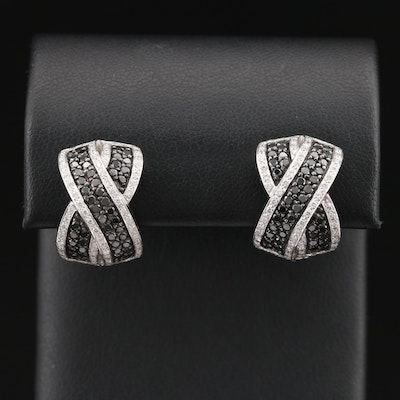 14K 2.00 CTW Diamond Crossover Earrings