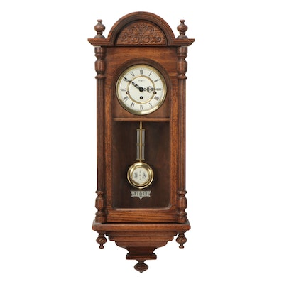 "Howard Miller ""Westminster"" Five Chime Oak Regulator Wall Clock"