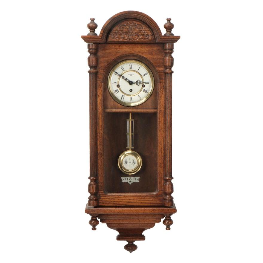 "Howard Miller ""Westminster"" Five Chime Oak Regulator Wall Clock"