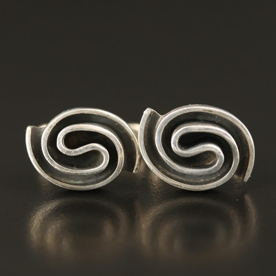 Mexican Sterling Spiral Cufflinks