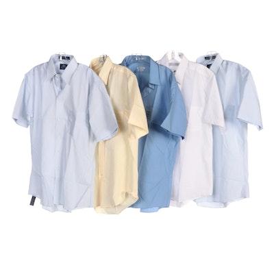 Men's Van Heusen and Stafford Short Sleeved Shirts