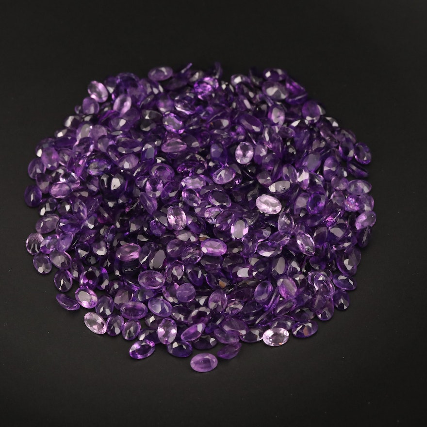 Loose 186.09 CTW Oval Faceted Amethysts