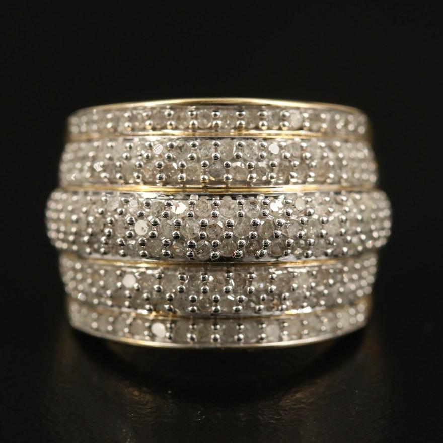 10K 1.03 CTW Diamond Multi-Row Ring