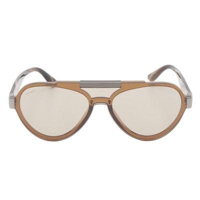 Prada SPR01U Brown Aviator Sunglasses