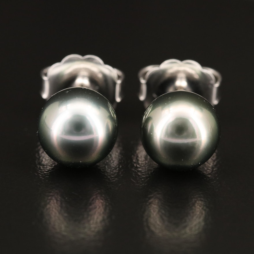 Mikimoto 18K Pearl Stud Earrings
