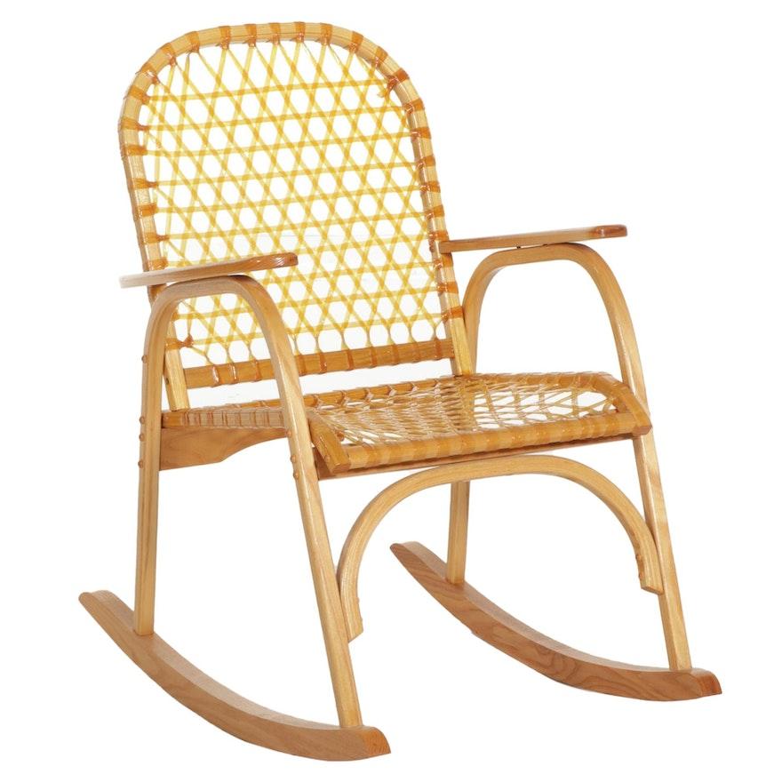 Bentwood Pine Snowshoe Rocking Chair