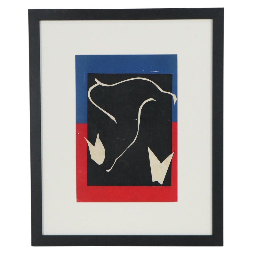 "Henri Matisse Color Lithograph Back Cover of ""Verve,"" 1937"