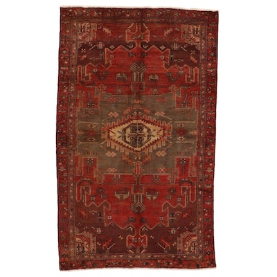 4'2 x 7' Hand-Knotted Northwest Persian Kurdish Area Rug