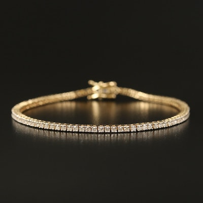 14K 2.00 CTW Diamond Tennis Bracelet