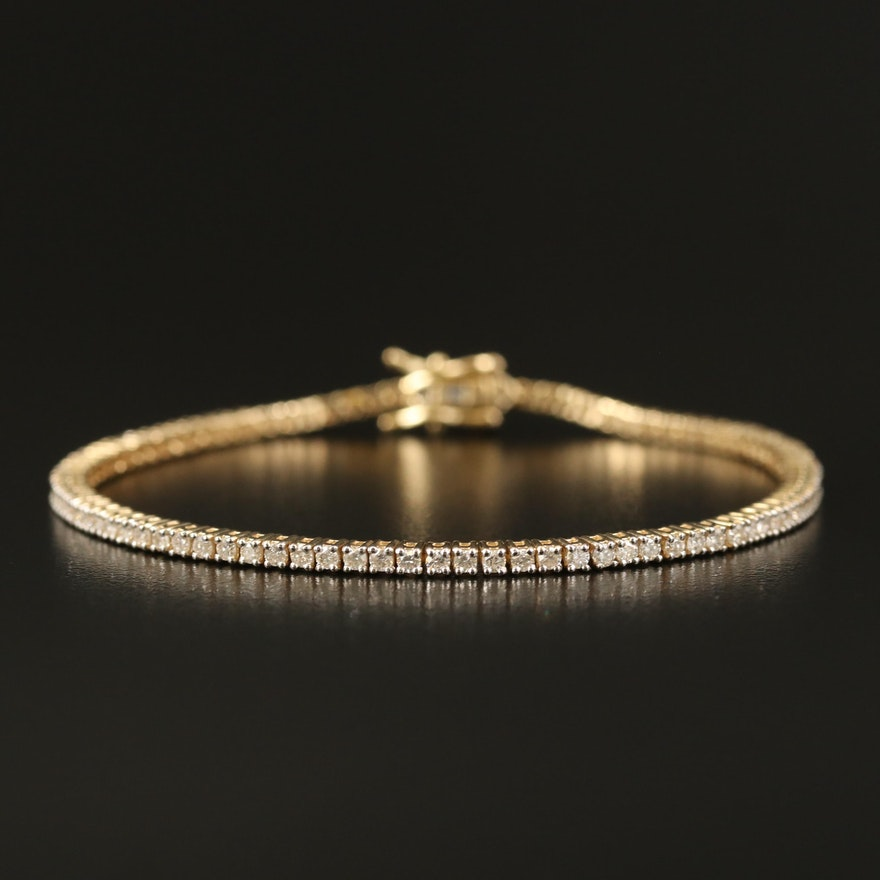 14K 2.00 CTW Diamond Tennis Bracelet
