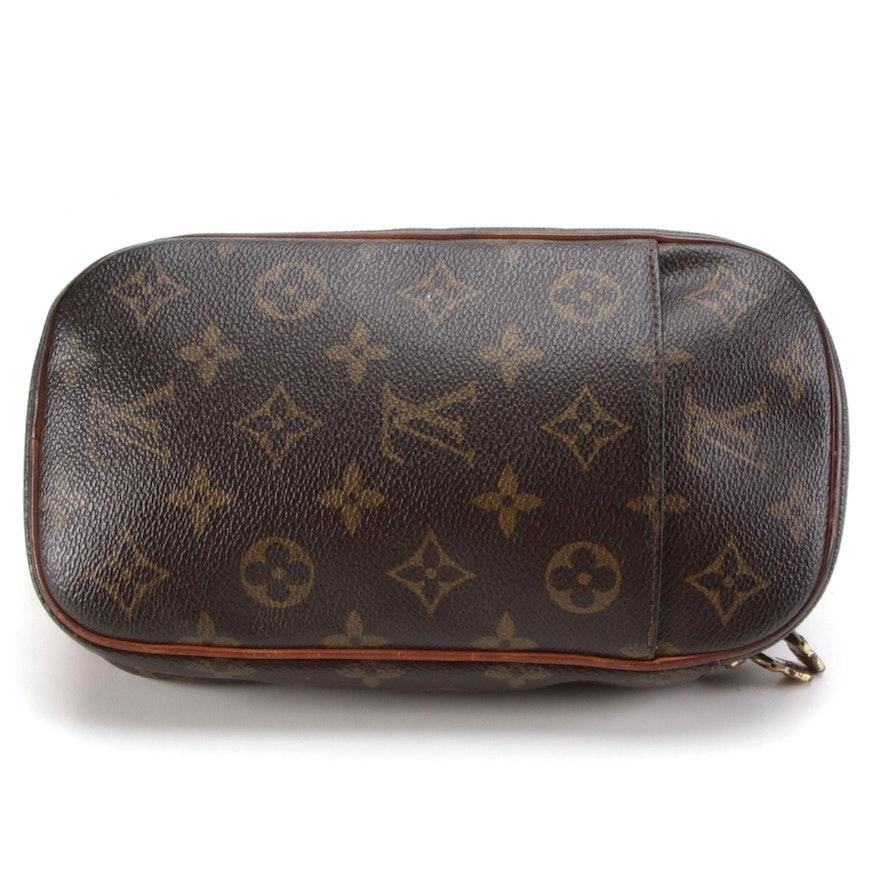 Louis Vuitton Pochette Gange in Monogram Canvas with Vachetta Leather Trim