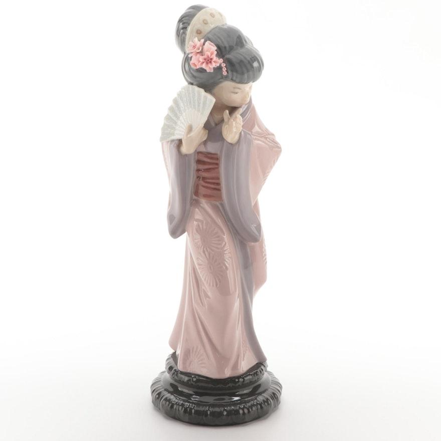 """Lladró """"Timid Japanese"""" Porcelain Figurine, 1978"""