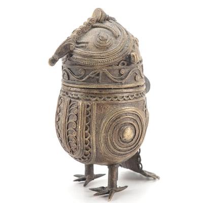 Indian Dhokra Brass Owl Box