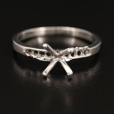 Platinum Open Mount Ring