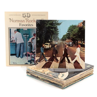 The Beatles, Elvis Presley, Nat King Cole and Other Vinyl Records