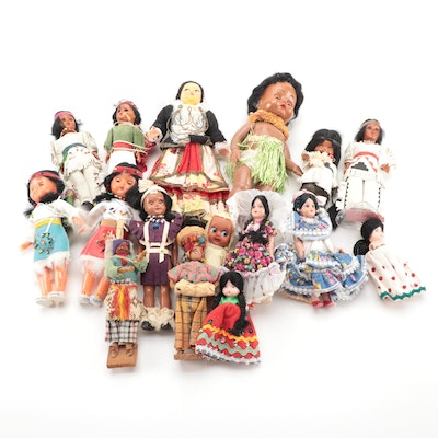 International and Native American Style Dolls, Mid to Late 20th Century