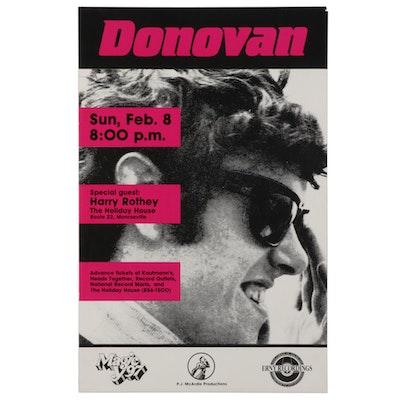 Donovan Monroeville Concert Poster