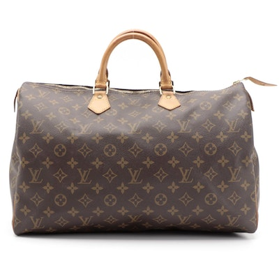 Louis Vuitton Speedy 40 Bag in Monogram Canvas