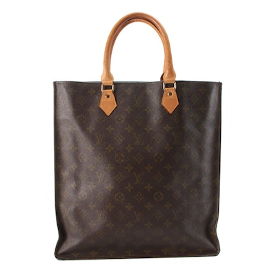 Louis Vuitton Sac Plat Tote Bag in Monogram Canvas