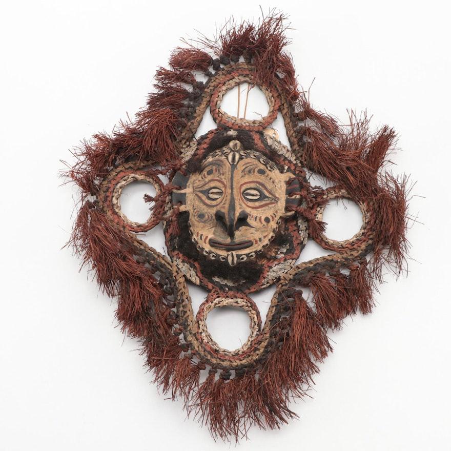 Sepik River Basketry and Shell Mask, Papua New Guinea