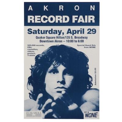 Jim Morrison Themed Record Fair Poster