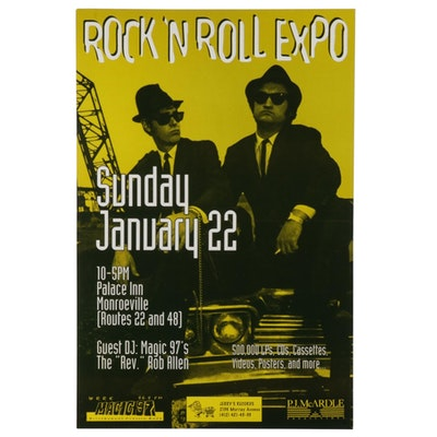 The Blues Brothers Themed Rock 'N Roll Expo Poster