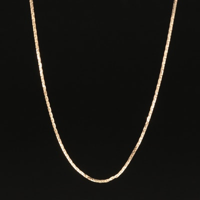 "14K ""C"" Link Chain Necklace"