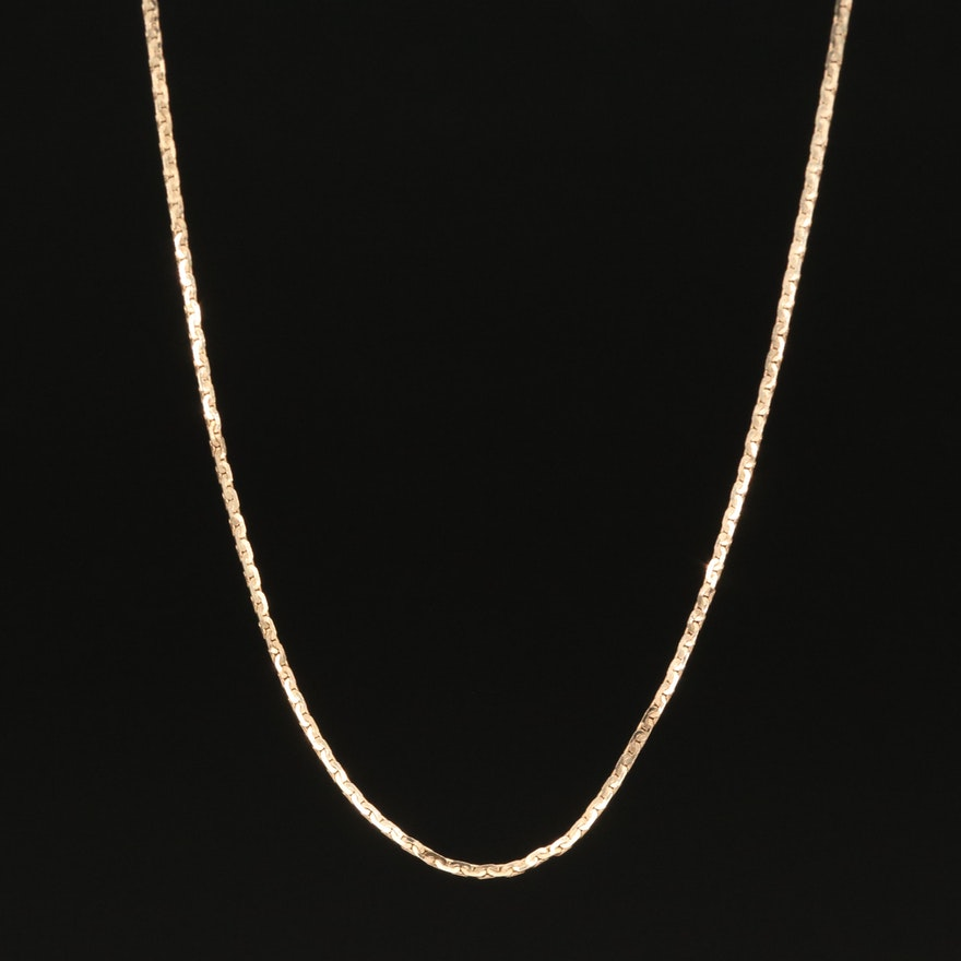 """14K """"C"""" Link Chain Necklace"""
