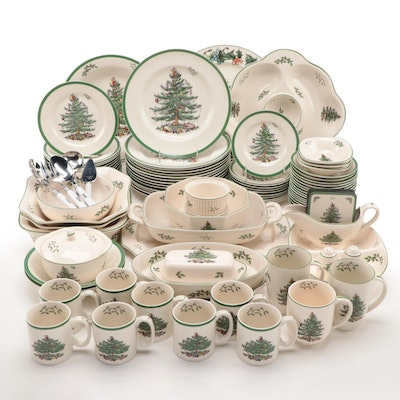 "Spode ""Christmas Tree"" and Other Christmas Themed Dinnerware and Serveware"
